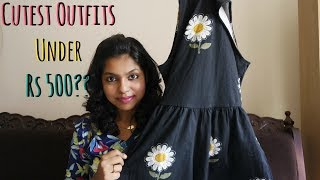 Outfit under Rs 500? Cutest T shirt dresses & Rompers Haul under 500 Rs | AdityIyer