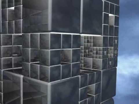 3D Fractal Zoom Menger Sponge Cube High Quality