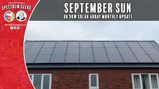 UK 9kW Solar Array Monthly Solar Stats  September 2021  Tesla Powerwall, MyEnegi, SolarEdge