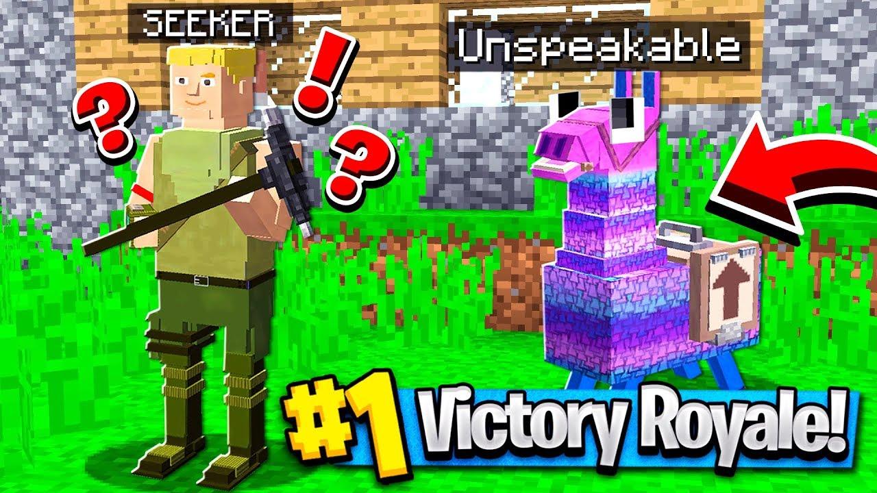 1st Victory Royal Minecraft Fortnite Hide Seek