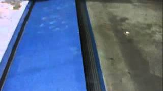 FloodBreak Automatic Floodgate - passive flood barrier system demonstration.wmv