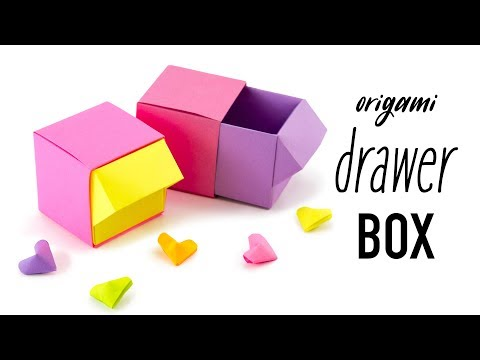 Origami Drawer Box Tutorial - DIY Organiser - Paper Kawaii