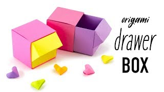 Origami Drawer Box Tutorial - DIY Organiser - Paper Kawaii