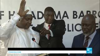 Gambia  new president Adama Barrow sworn in amidst growing tensions