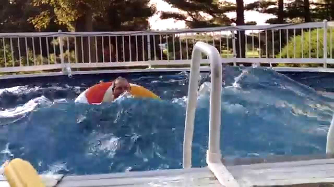 How to make 3 39 foot waves in a swimming pool jumping sync for How to make a small pool