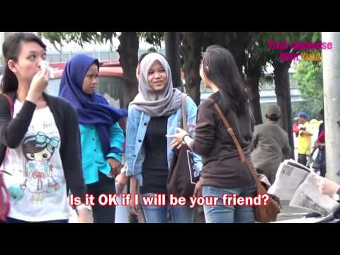 Wanna Be Friends  in Jakarta! Social Experiment in Indonesia