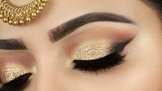 गोल्डन आई मेकअप कैसे करें how to do golden eye makeup look for wedding | Deepti Ghai Sharma