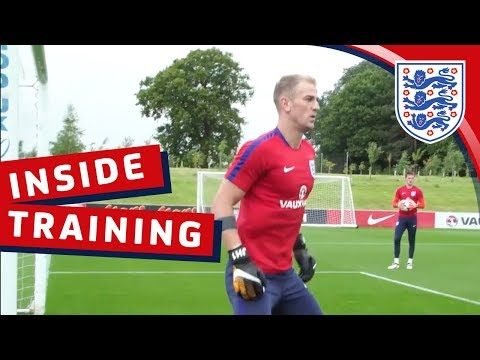 England goalkeeping session with Hart, Butland, Heaton and Woodman | Inside Training