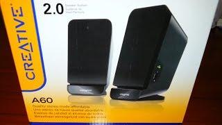 Parlantes Creative A60 Estéreo 2.0 (Unboxing)