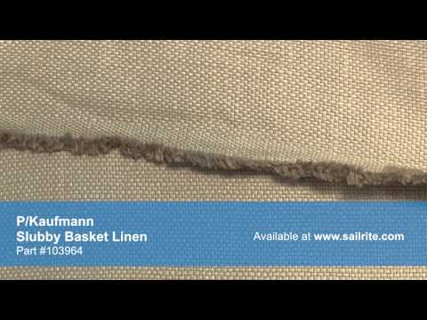 Video of P/Kaufmann Slubby Basket Linen Fabric #103964