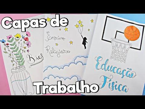 IDEIAS LINDAS PARA CAPAS DE TRABALHO - BIOLOGIA, ENSINO RELIGIOSO E ED. FÍSICA