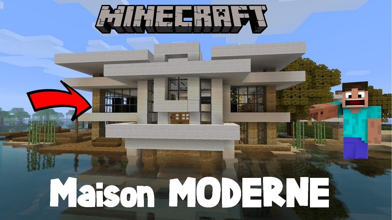 construire une maison moderne en 5 minutes tuto minecraft youtube. Black Bedroom Furniture Sets. Home Design Ideas