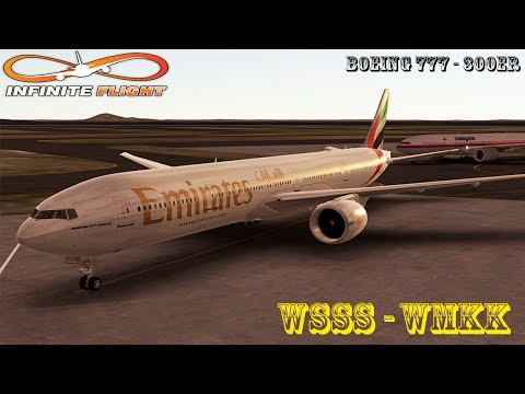 [Infinite Flight] Boeing 777-300ER | WSSS - WMKK | Emirates | Full Flight ᴴᴰ