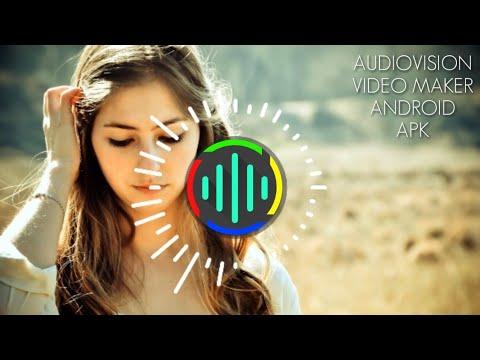 Audio spectrum video maker Android app AUDIOVISION VIDEO MAKER
