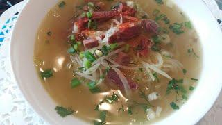 Корейский суп с редькой.Очень прост в приготовлении.