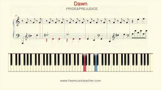 "How To Play Piano: ""Dawn"" PRIDE&PREJUDICE Piano Tutorial by Ramin Yousefi"