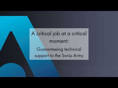 Guaranteeing technical support to the Swiss Army - Thales