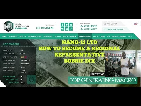 NANO 11 LTD HYIP  HOW TO BECOME A REGIONAL REPRESENTATIVE