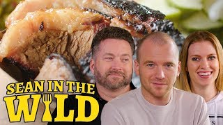 Rooster Teeth and Sean Evans Sample New York City BBQ | Sean in the Wild Free HD Video
