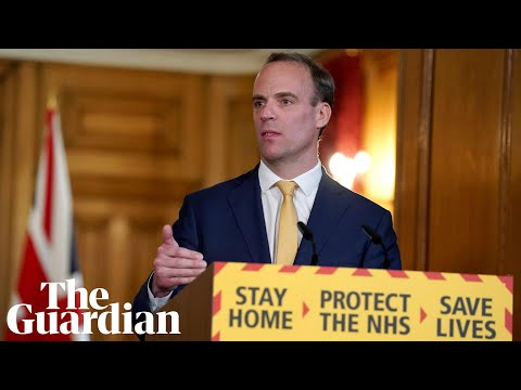 Coronavirus: Dominic Raab gives daily briefing on outbreak in UK – watch live