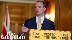 Coronavirus: Dominic Raab gives daily briefing on outbreak in UK – watch in full
