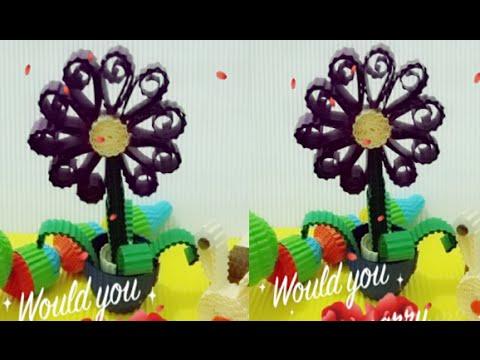 DIY flower from corrugated paper / kokoru paper