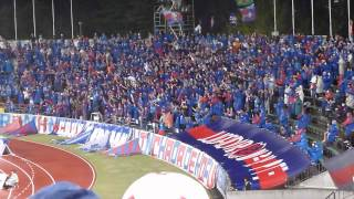 2014年4月19日にホーム中銀スタジアムで行われたJ1第8節名古屋グランパ...