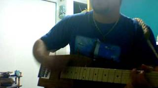Country Boy Can Survive (cover on Cigar Box Guitar)