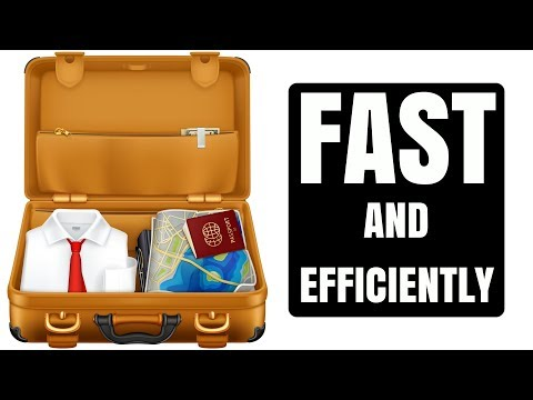 How to Pack Your Suitcase Fast and Efficiently