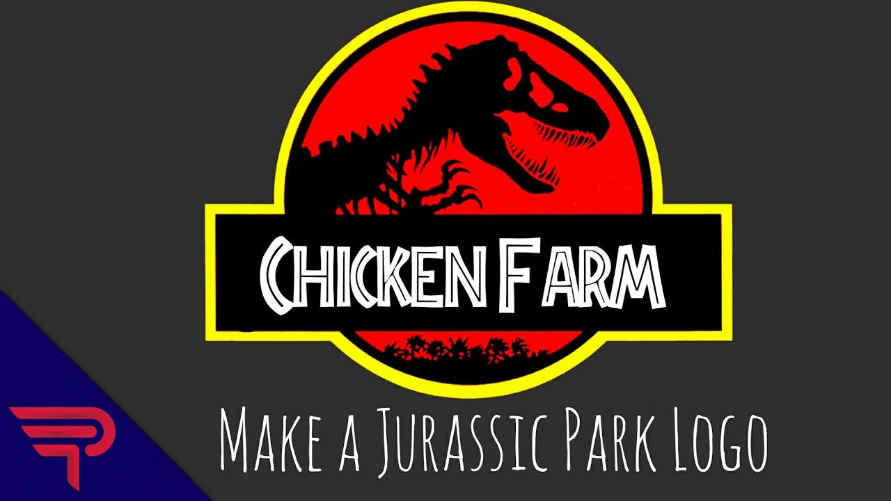 how to make a custom jurassic park logo youtube