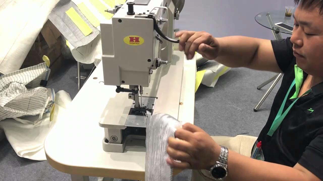 Máquina de coser industrial recta doble arrastre para
