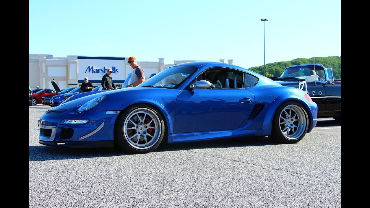 Wide Body Porsche Cayman Walkaround At Hunt Valley