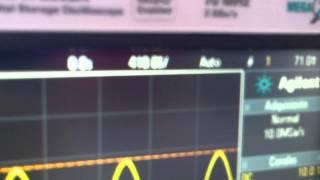 como se mide frecuencia con el osciloscopio diana cruz