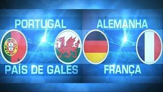 Chamada Globo: Portugal X Gales / França X Alemanha (Euro 16)