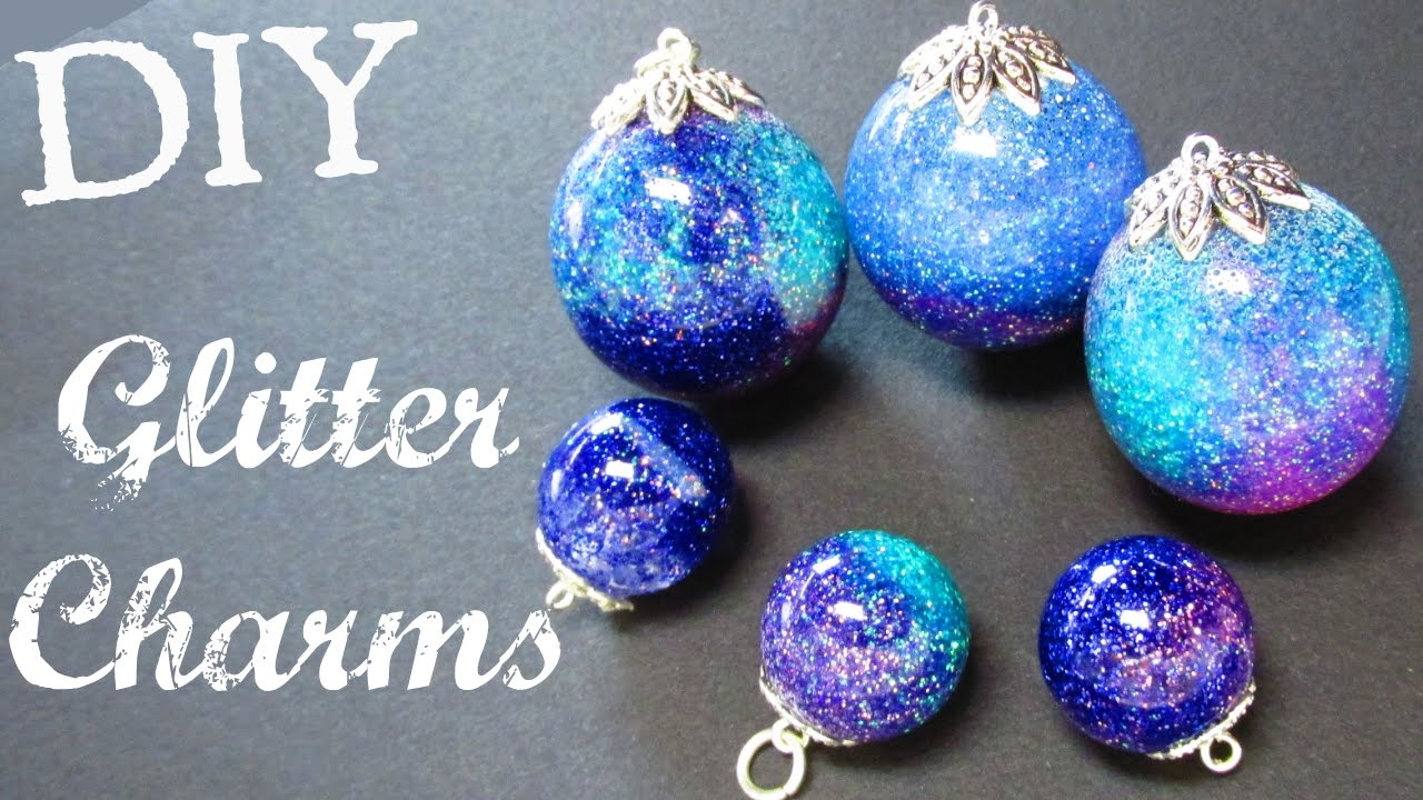 glitter arts and crafts ideas glitter charms diy project resin spheres craft 6639