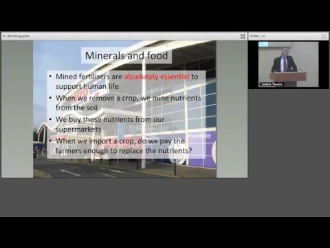 Mineral Solutions to Global Problems London_Lecture January 2016