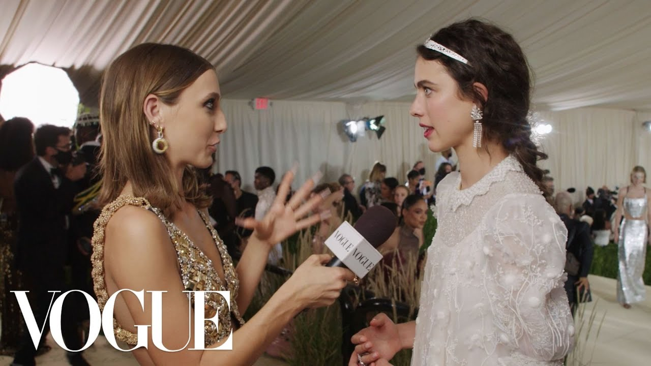 Margaret Qualley Took Her Gala Inspiration From Chanel   Met Gala 2021 With Emma Chamberlain   Vogue