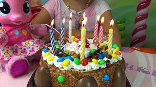 Делаем торт на День Рождение с Пони из киндер сюрпризов как сделать торт май литл пони mlp for kids