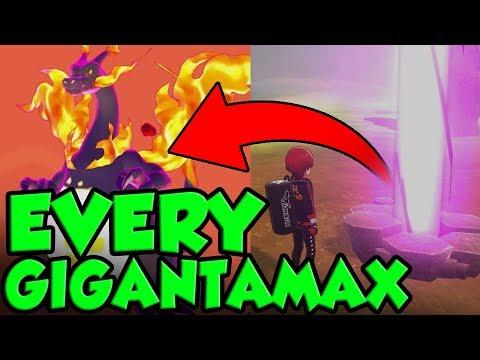 EVERY Gigantamax Location In Pokemon Sword And Shield! Pokemon Sword And Shield Gigantamax Guide
