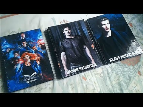 Caderno - Shadowhunters, Vampire diaries e Supernatural