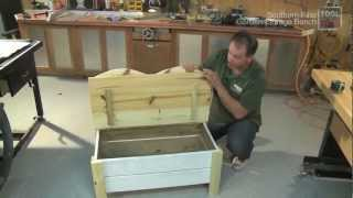 Garden Storage Bench - Tool Skool - Shop Project