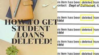 How to get rid of student loans on your credit report