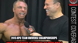 "John ""Mountain Dog"" Meadows After Winning His IFBB Pro Card At The 2015 NPC Team Universe!"