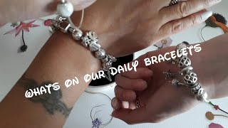 Whats on our daily Pandora bracelets with daughter @tarapandoramoments