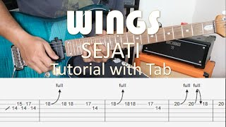 WINGS - Sejati - Intro & Solo Tutorial with Tab