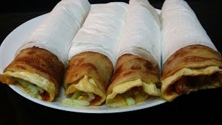 How To Make Egg Roll/Indian Road Side Snacks Recipe/Kolkata Style Perfect Egg Roll/Egg Frankie