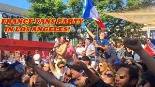 FRANCE FANS IN LOS ANGELES REACT FRANCE VS CROATIA WORLD CUP FINAL 4-2!