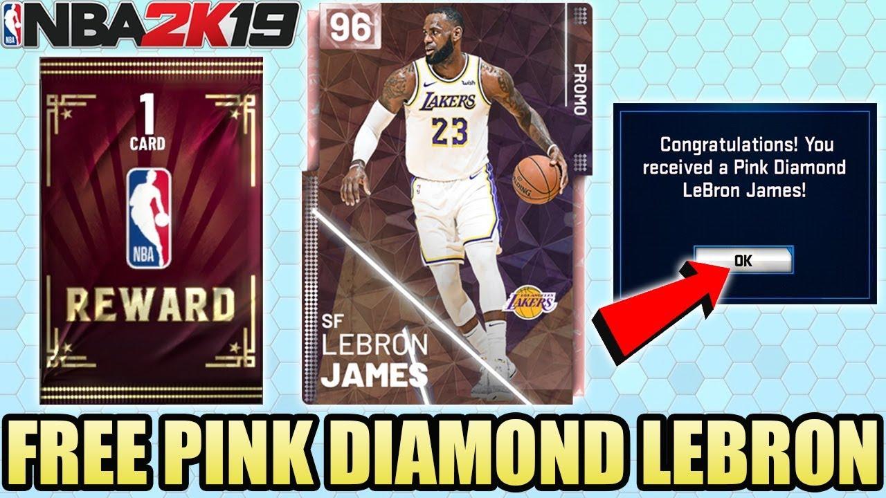 Nba 2k19 Guaranteed Free Pink Diamond Lebron James