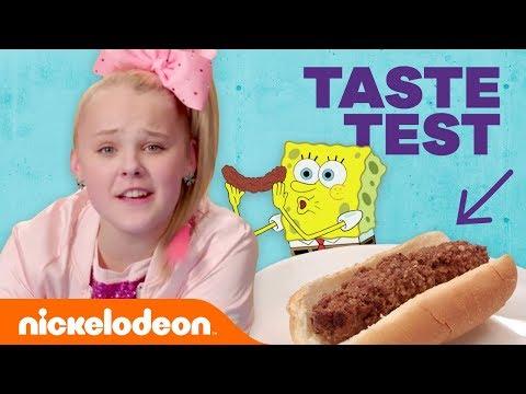 JoJo Siwa, Jade Pettyjohn & More in the 😋  Nickelodeon-Inspired Food Taste Test 🍔 (Part 2) | Nick