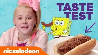 JoJo Siwa, Jade Pettyjohn & More in the 😋  Nickelodeon-Inspired Food Taste Test 🍔 (Part 2) | Nick